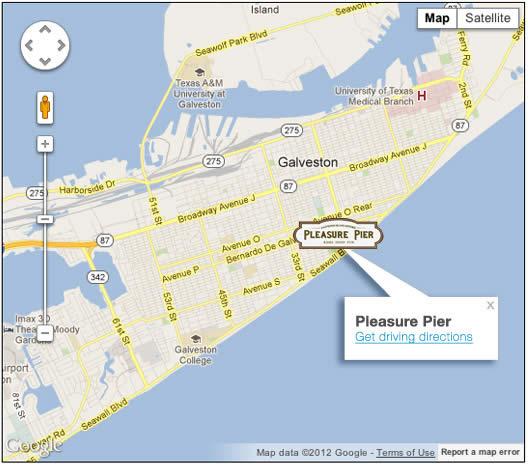 Galveston Map Of Texas.Visitor Information Galveston Island Historic Pleasure Pier